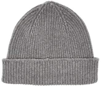 Paul Smith Cashmere And Merino Wool Blend Beanie Hat - Mens - Grey