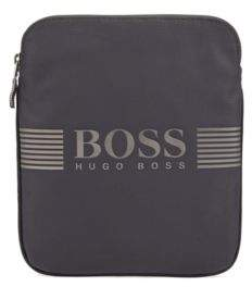 BOSS Envelope bag in structured nylon with logo artwork