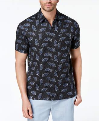 Tasso Elba Men's Leaf-Print Shirt, Created for Macy's