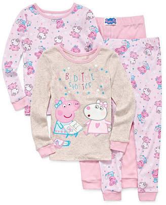 Peppa Pig 4-pc. Pant Pajama Set Girls