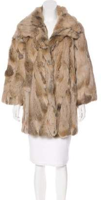 Adrienne Landau Fur Short Coat