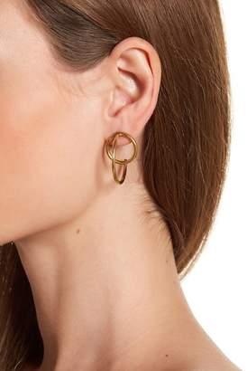 Soko Globe Criss-Cross Hoop Jacket Earrings