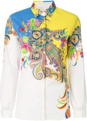 Etro printed buttoned up blouse