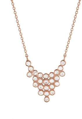 Yannis Sergakis Adornments Twenty Five Diamond Drop Necklace - Rose Gold