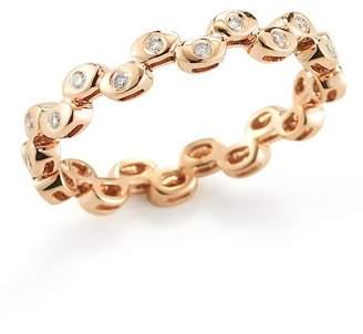 DANA REBECCA 14K Rose Gold Diamond Sophia Ryan Stacking Band - 0.16 ctw - Size 7