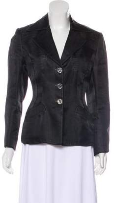 Richard Tyler Silk Structured Blazer
