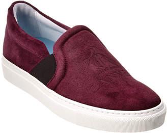 Lanvin Logo Embossed Suede Slip-On Sneaker