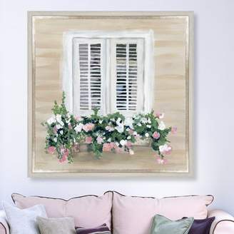 Ophelia & Co. 'Flowers in My Window' Framed Painting Print on Canvas