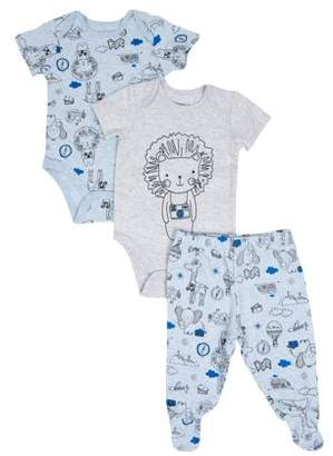 Vitamins Baby Vitamins Newborn Baby Boy Bodysuits & Pants, 3pc Set