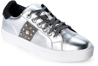 Steve Madden Steven By Silver Cory Embellished Low-Top Sneakers