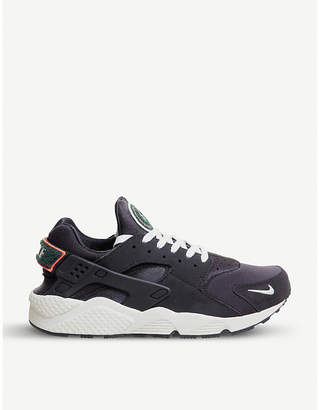 Nike Huarache suede trainers