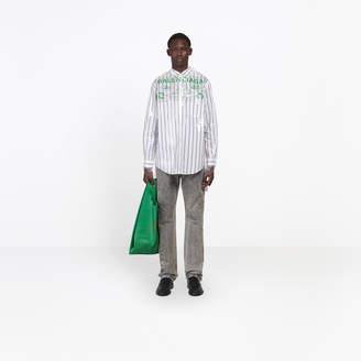 Balenciaga Striped shirt bonded in a plastic film