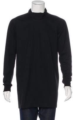 Rick Owens Cowl Neck Longline Sweatshirt