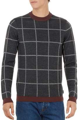 Ted Baker Legit Checked Crewneck Sweater