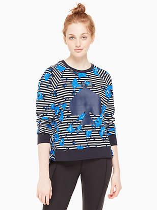 Kate Spade Hibiscus stripe pullover