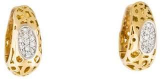 Roberto Coin 18K Diamond Capri Hoop Earrings