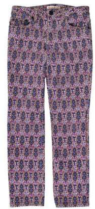 Tory Burch Low-Rise Printed Jeans