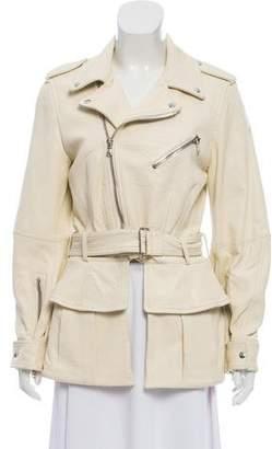 Alexander McQueen Peplum Leather Jacket w/ Tags