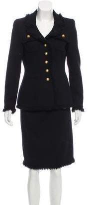 Rena Lange Wool Structured Skirt Suit