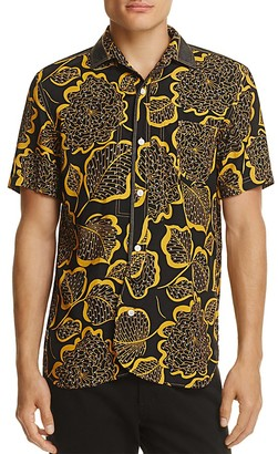 Junya Watanabe Leaf-Print Slim Fit Button-Down Shirt $473 thestylecure.com