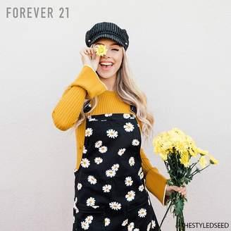 Forever 21 (フォーエバー 21) - Forever 21 フラワーサロペットワンピース