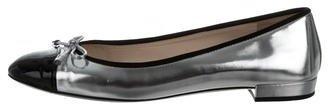 pradaPrada Metallic Cap-Toe Flats