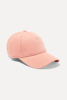 Rag & Bone Marilyn Leather-trimmed Cotton-twill Baseball Cap - Peach