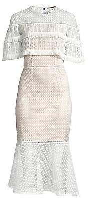 Elie Tahari Women's Janine Crochet Midi Dress