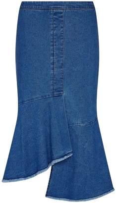 Yumi Waterfall Denim Skirt