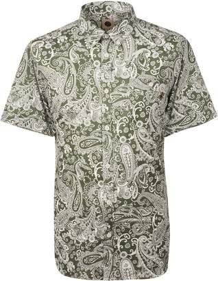Pretty Green Men's Short Sleeve Paisley Print Shirt