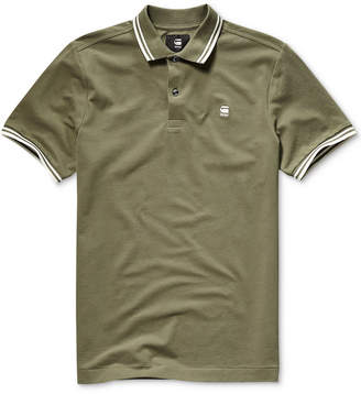G Star Men Dunda Straight-Fit Performance Stretch Tipped Polo
