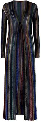 Missoni Lurex Striped Maxi Cardigan