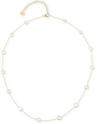 Amrapali Legend Polki Diamond-Slice Station Necklace in 18k Gold