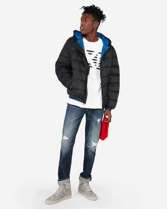Express Hooded Water-Resistant Puffer Jacket