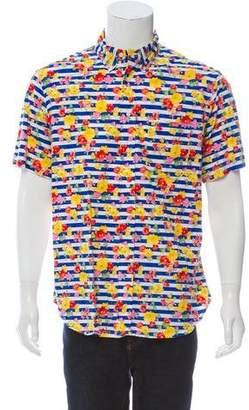 Gitman Brothers Floral Print Button-Up Shirt