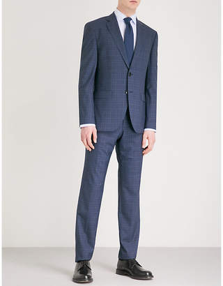 BOSS Checked wool suit