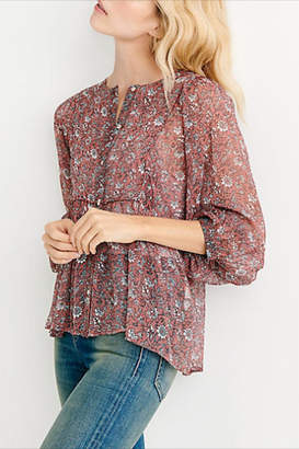 Lucky Brand Floral Button-Down Blouse