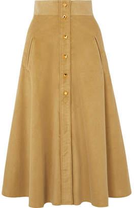 Anna Mason - Liv Cotton-corduroy Midi Skirt - Yellow