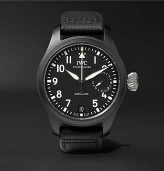 Top Gun IWC SCHAFFHAUSEN Pilot's 46mm Ceramic And Leather Watch