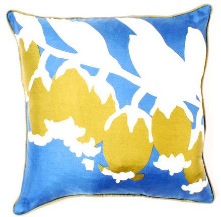 Thomaspaul - Blue Silk Pillow