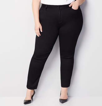 Avenue Butter Denim Straight Leg Jean in Black
