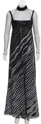 Fendi Fur-Trimmed Embellished Dress