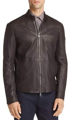 Emporio Armani Leather Zip Up Jacket