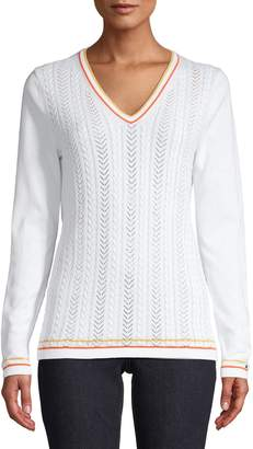 Tommy Hilfiger Long-Sleeve Cotton Sweater