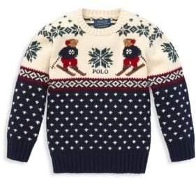 Ralph Lauren Little Boy's & Boy's Cotton & Merino Wool Sweater