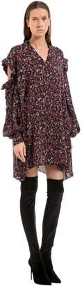Magda Butrym Floral Print Silk Crepe De Chine Dress