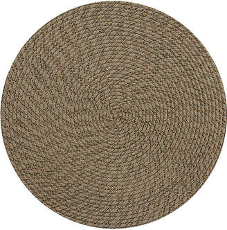 BETTER TRENDS Better Trends Palm Springs Braided Round Reversible Indoor Area Rug