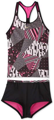 Nike Big Girls Mash Up Racerback Tankini & Kickshort Swimsuit