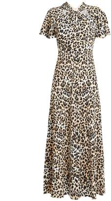 Temperley London Wild Cat twist-neck leopard-print dress