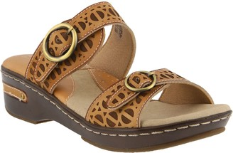 Spring Step L'Artiste by Leather Slide Sandals- Duobank